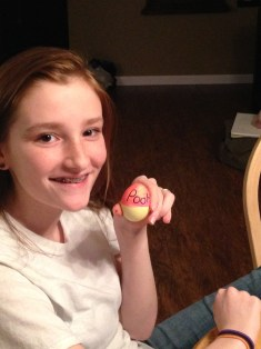 Doodle made a Pooh bear egg!