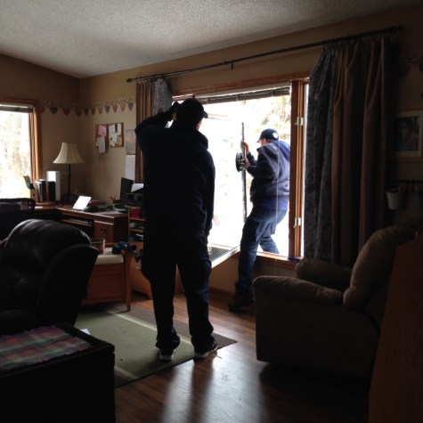 Glass Doctor replacing the picture window in the family room