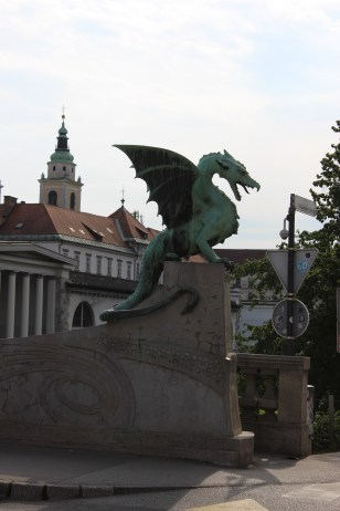 Ljubljana's city symbol dragon was present everywhere in the city