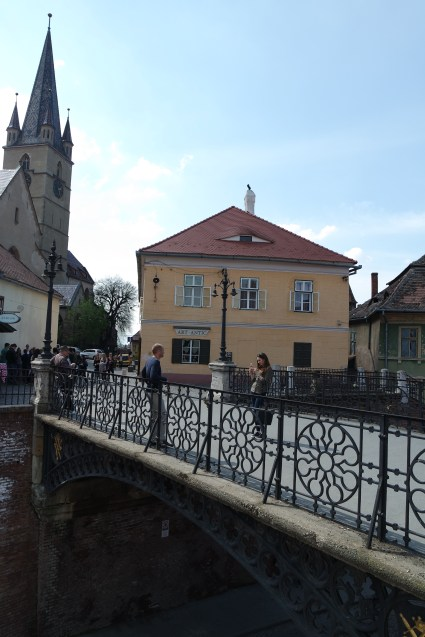 Liar's bridge, which got it's name from merchants talks and is said to collapsed if you are standing there with too many lies.