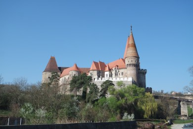 Corvin castle from a distance
