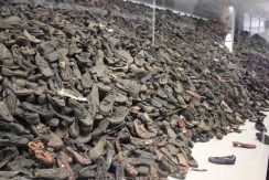 Victim's pile of shoes which contained about 900 000 shoes...