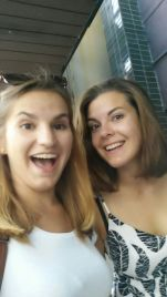 Two really happy girls with new hair!
