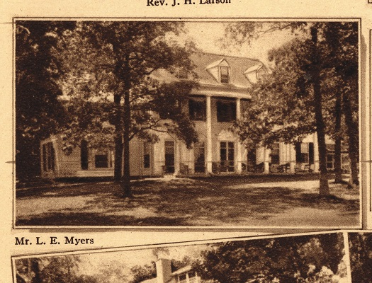 Allegheny was Shaw's last commission on Geneva Lake and it's just to the west of his first commission, Aloha Lodge. Both homes were designed with a distinct Colonial style unlike the three commissions on the north shore that were infused with more European influences.