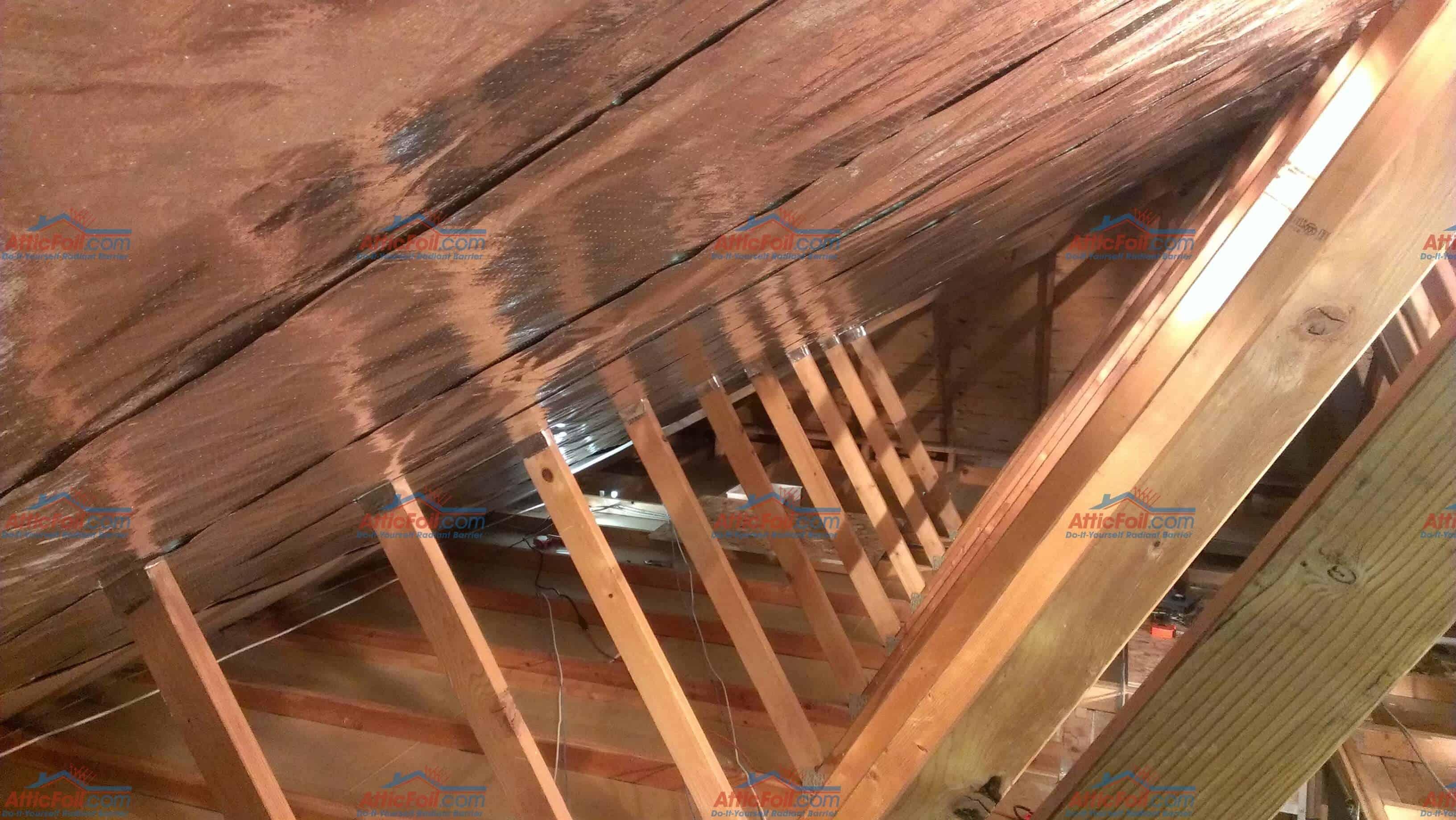 Gallery Truss Attic Installs AtticFoil Radiant Barrier