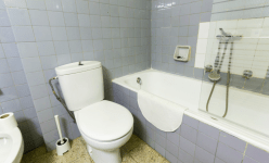 Here is my bathroom. There are 2 bathrooms in this flat shared by 5 people. We have a lovely bidet too. Anyone want to come try it?