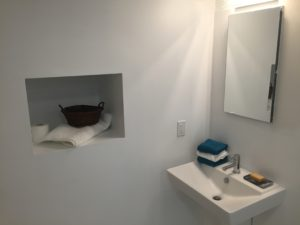 Minneapolis Bathroom Remodel open shelving