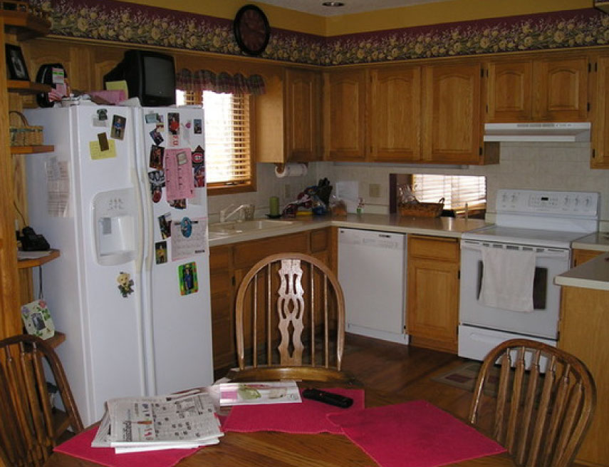 Before and after split level kitchen remodel blaine mn for Split level kitchen remodel before and after