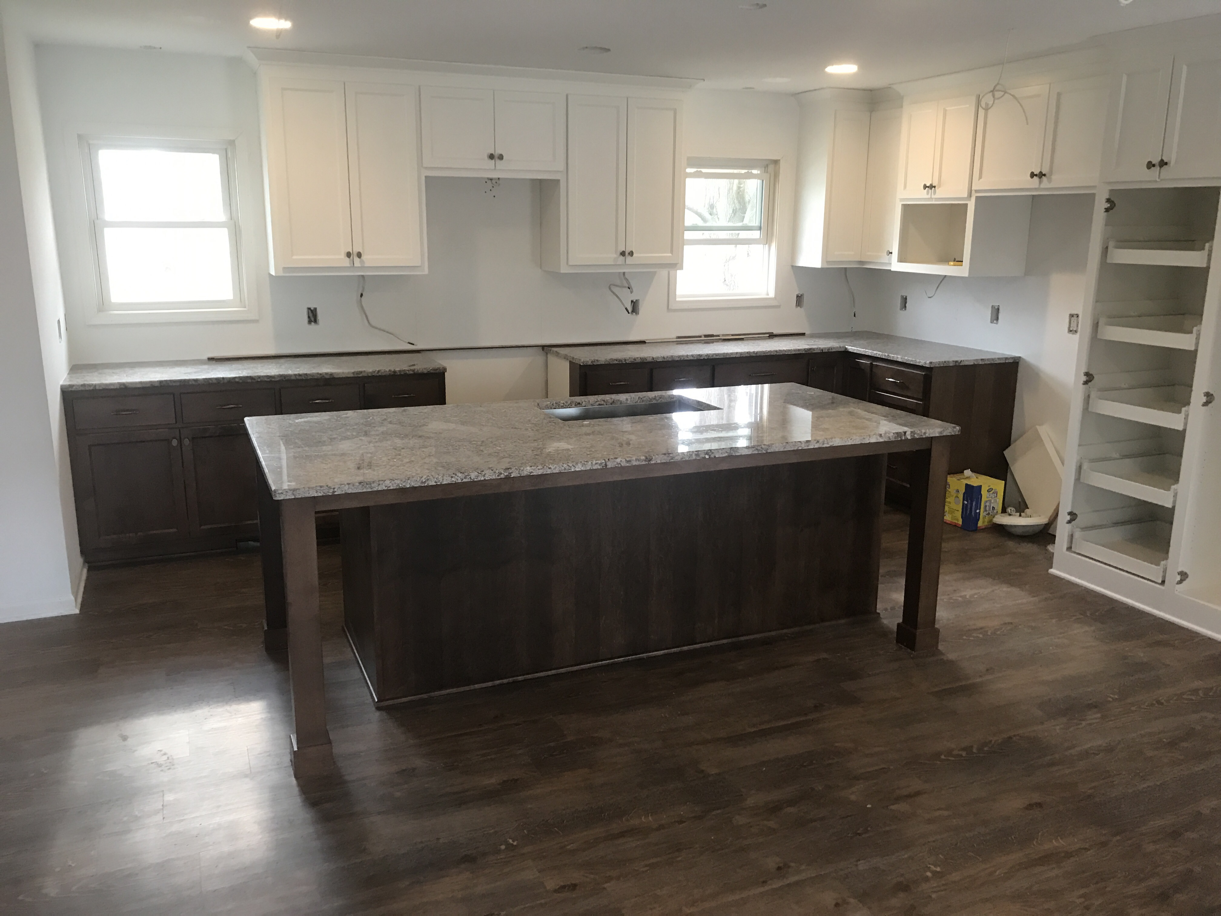 bloomington kitchen remodel - granite countertops installed - attics