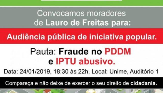 Entidades apontam fraude no Plano Diretor em Lauro de Freitas