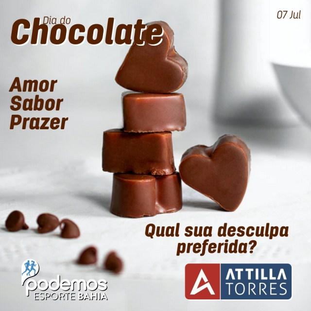 07 DE JULHO – DIA MUNDIAL DO CHOCOLATE