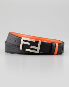 We found this Fendi belt, but we liked it because it has our initials on it: F&F