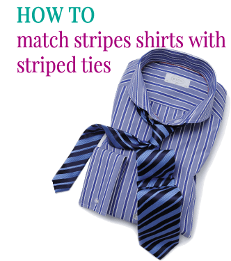 How to match striped shirts with striped ties by Attire Club