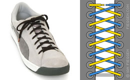 Criss-cross lacing