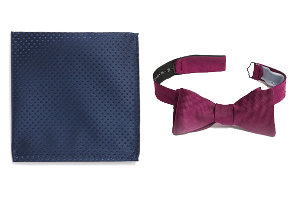 A tie and a bow tie in another scheme with analog colors.