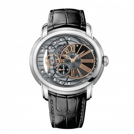 The Audemars Piguet Millenary is a watch that references 19th century hand-made mechanics, 20th century Art Nouveau and maybe even the moon phases, all while keeping it modern and dynamic. What does it tell you?