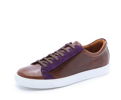 A leather sneaker by The Generic Man