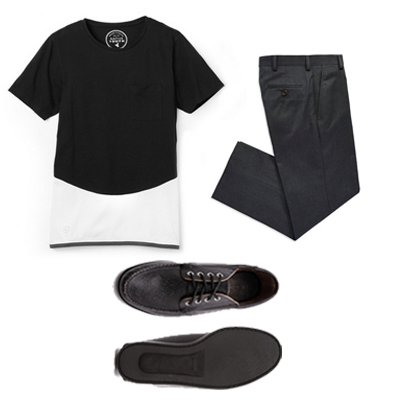 A black and white casual outfit