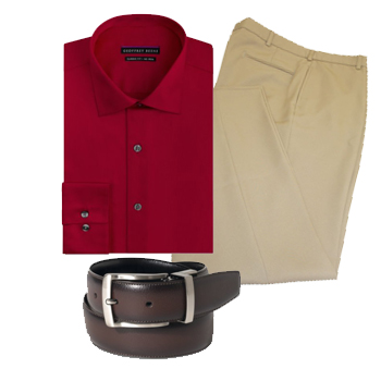 Outfit for ectomorph men