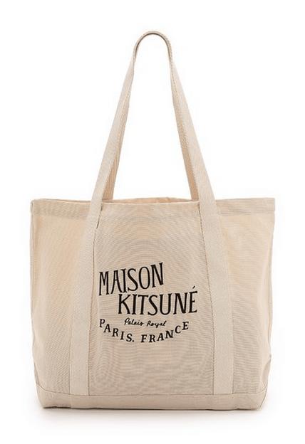 A canvas Maison Kitsuné tote