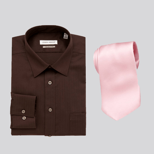 Neutral Shirt Solid Color Tie Attire Club