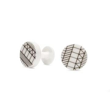 Ceramic cufflinks by AMT