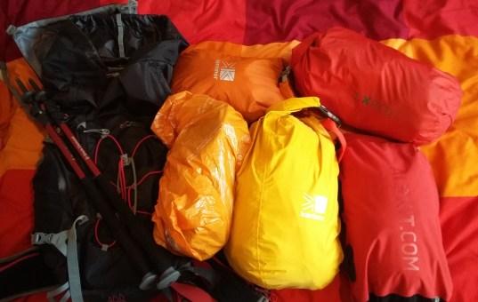 Coast to Coast backpacking gear list