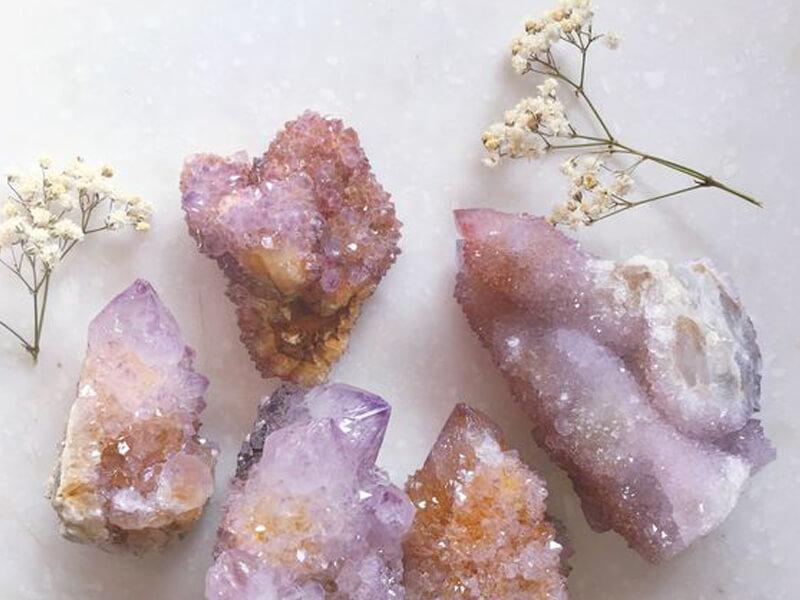 Crystals rose