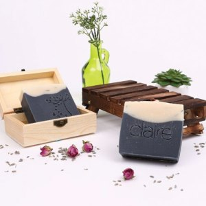 Claire bamboo Charcoal soap