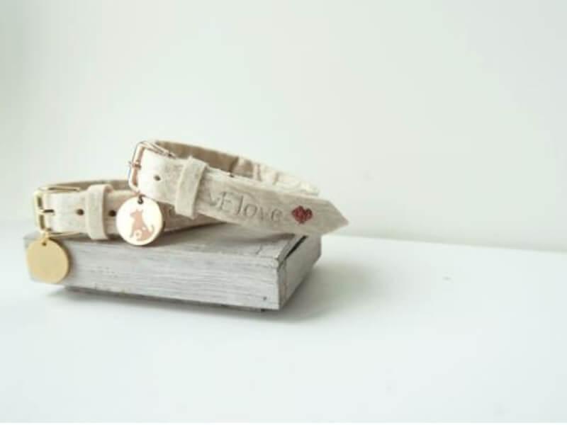 White bracelet in pineapple leather