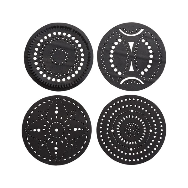 CIRCLE HANDCRAFTED RECYCLED RUBBER COASTER