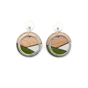CONTURE ECO FRIENDLY AND HANDCRAFTED EARRINGS – PAGURO (OLIVE & BLUE)
