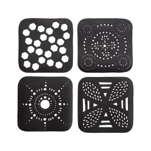 SQUARE HANDCRAFTED RECYCLED RUBBER COASTER
