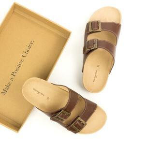vegan two strap sandal