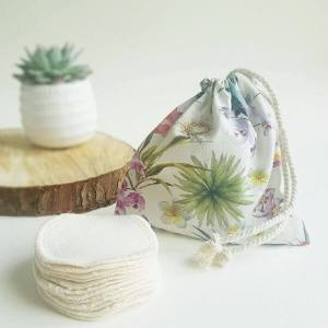 Reusable Cotton Pads (Botanical wash bag) – Leave No Trace