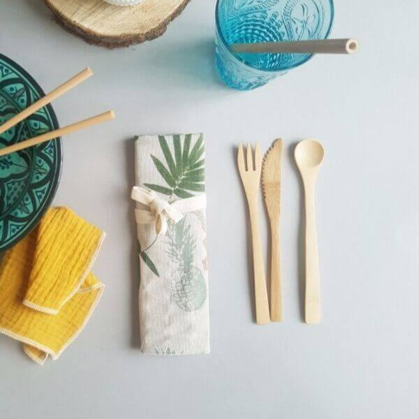 Reusable Bamboo Travel Cutlery Set (Monkey pouch) – Leave No Trace