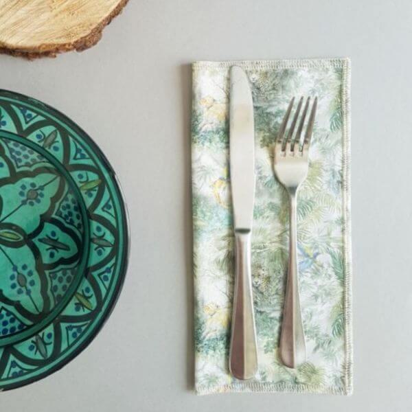 Reusable Cotton napkins (Leaf Design) – Leave No Trace