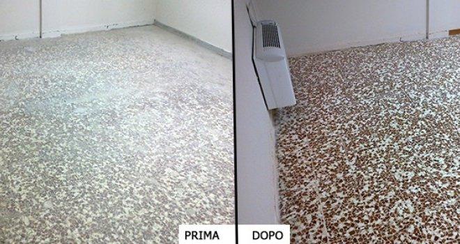 pulizia pavimento graniglia Collegno