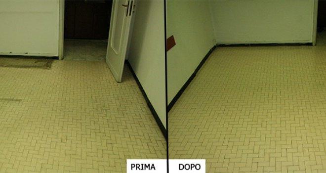 trattamento pavimento cera prima dopo