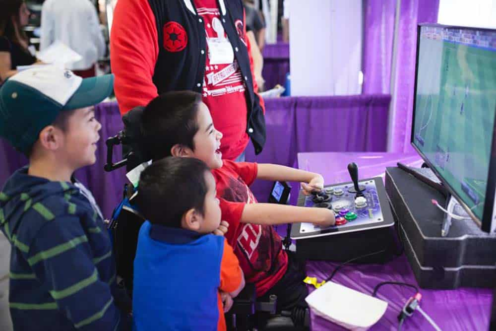Children's Hospital in New Orleans patients with accessible gaming equipment image