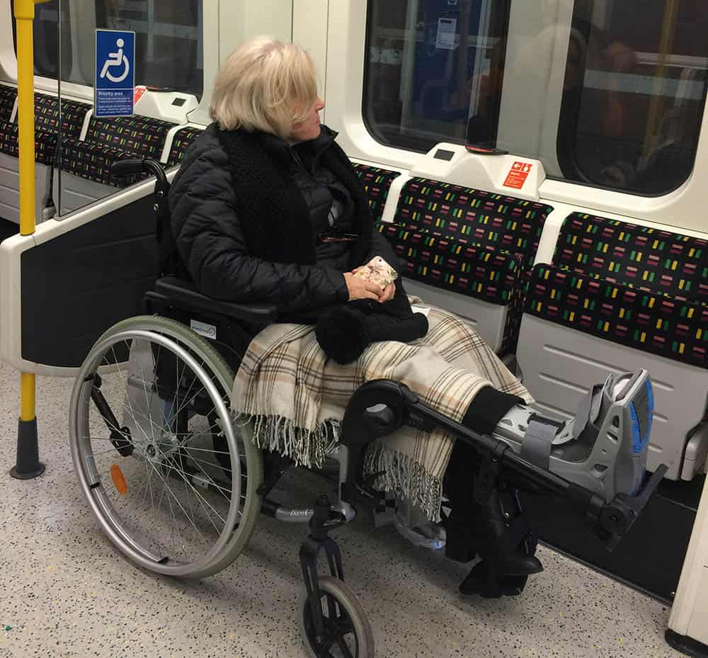 Disabled passenger image