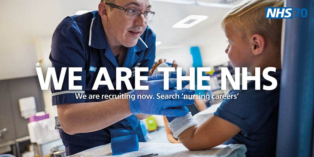 NHS recruitment campaign image