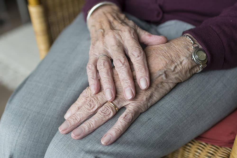 Old person's hands image