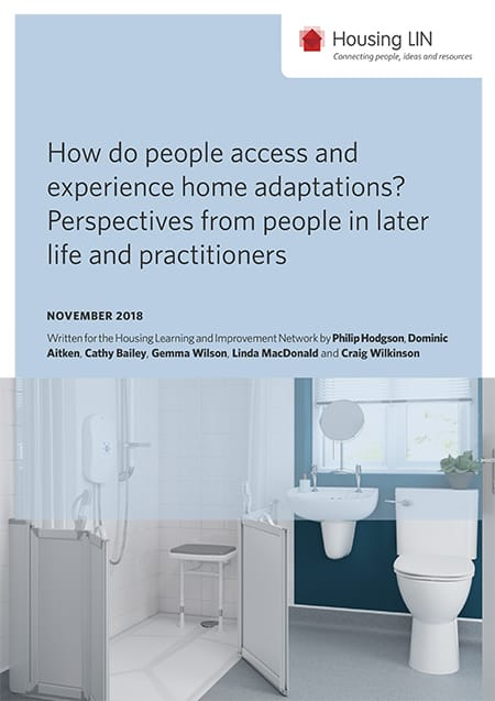How do people access and experience home adaptations? Perspectives from people in later life and practitioners report image