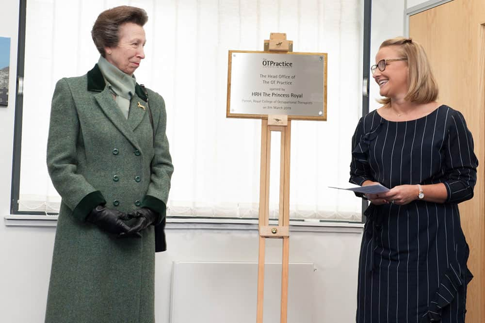 The OT Practice official opening plaque unveiling image