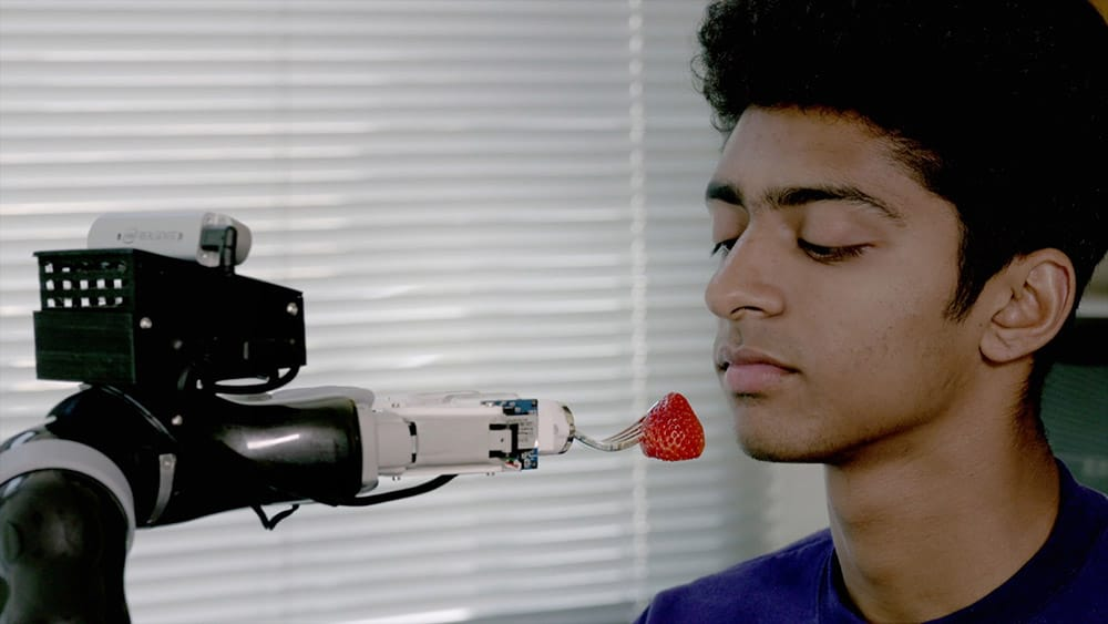 University of Washington's robotic feeding device image