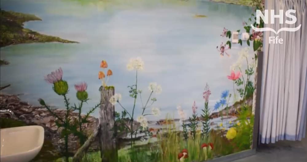 Victoria Hospital dementia recovery area painting image