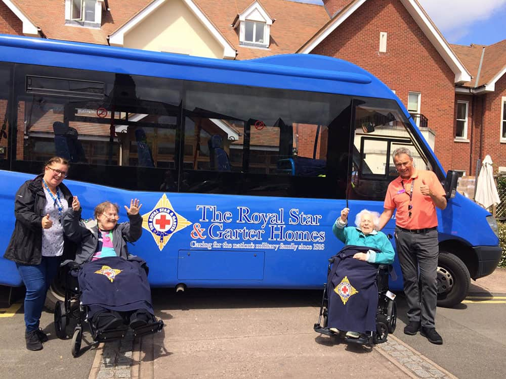 Royal Star & Garter Home minibus service image