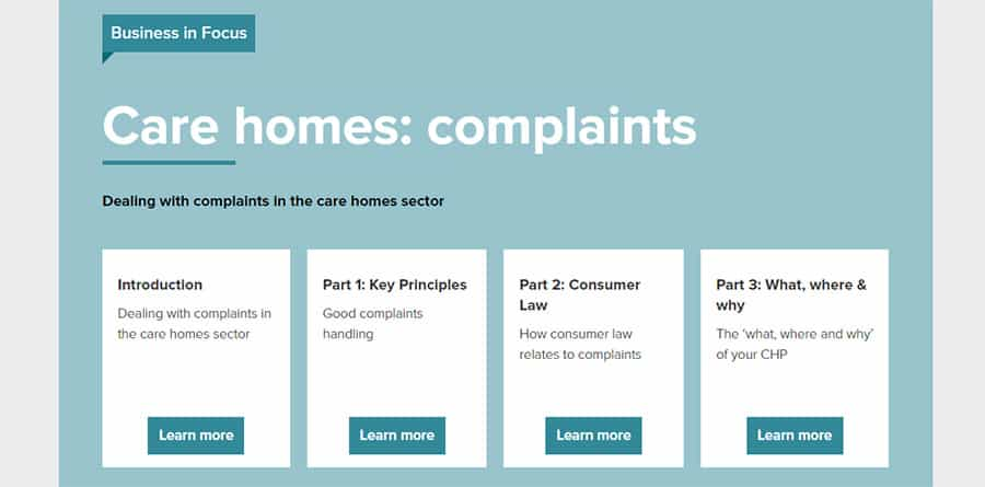 CTSI care home complaints guide image