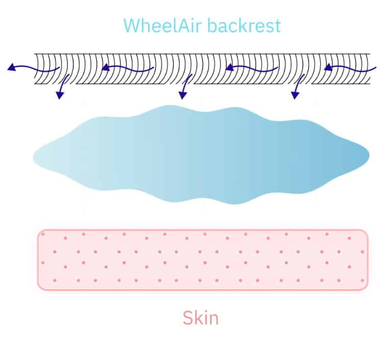 WheelAir backrest graphic